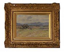 JOHN HENDERSON (SCOTTISH 1860-1924) PICNIC BY THE BURN 18cm x 25.5cm (7in x 10in)
