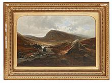 WALLER HUGH PATON R.S.A., R.S.W. (SCOTTISH 1828-1895) GLEN CALLATER, BRAEMAR 49cm x 74cm (19.25in x 29in)
