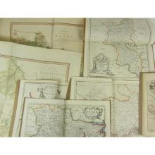 Collection of 10 maps, including Saxton, C.