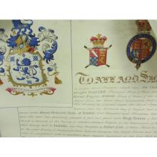 Vellum Grant of Arms to Hugh Moises
