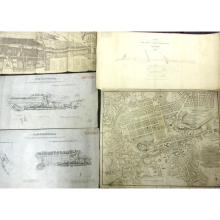 Railway related maps, manuscript and lithographed, including North British Railway