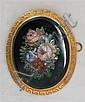 A 19th century mosaic brooch 5.5cm x 4.5cm