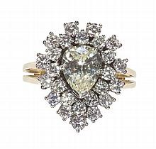 A diamond set cluster ring Ring size: M/N, Estimated principal diamond weight 1.16cts