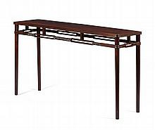 HONGMU SCROLL TABLE 19TH CENTURY 167cm long, 91cm high, 45cm deep