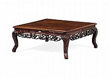 HUANGHUALI LOW TABLE QING DYNASTY 86cm wide, 36cm high, 86cm deep