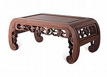 HONGMU KANG TABLE LATE QING DYNASTY 60cm wide, 25cm high, 31cm deep