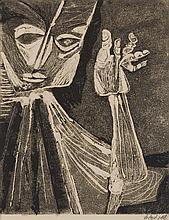 § ROBERT COLQUHOUN (SCOTTISH 1914-1962) UNTITLED 52cm x 40cm (20.5in x 15.75in)