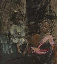 § ANGUS NEIL(SCOTTISH 1924-1992) MARIE CLARE AND GRAN 23.5cm x 21cm (9.25in x 8.25in)