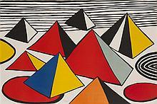 ALEXANDER CALDER (AMERICAN 1898-1976) TANK TRAPS 73cm x 109cm (28.75in x 43in)