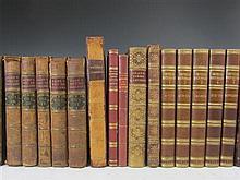 Leather bindings, quartos, a quantity, including Hume, David