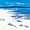 § JUNE TODD (SCOTTISH CONTEMPORARY) BEACH ON TIREE 54cm x 53cm (21.25in x 20.75in)