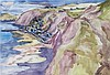 § PERPETUA POPE (SCOTTISH 1916-2013) GARDENSTOWN 38cm x 55cm (15in x 21.5in)