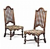 PAIR OF DUTCH WALNUT SIDE CHAIRS LATE 17TH CENTURY 52cm wide, 110cm high, 48cm deep