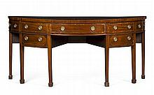 GEORGE III MAHOGANY DEMILUNE SIDEBOARD LATE 18TH CENTURY 199cm wide, 90cm high, 79cm deep