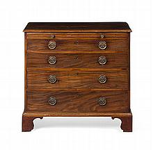 GEORGE III MAHOGANY CHEST OF DRAWERS 18TH CENTURY 94cm wide, 86cm high, 51cm deep