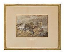 DAVID COX THE YOUNGER (BRITISH 1808-1885) NEAR HARBORNE, WARWICKSHIRE 19cm x 28cm (7.5in x 11in)