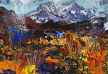 § JAMES HAWKINS (BRITISH B. 1954) BEINN EIGHE FROM COLIN, 1996 28.5cm x 41cm (11.25in x 16in)