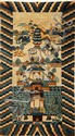 CHINESE PICTORIAL RUG QING DYNASTY 173cm long, 95cm wide