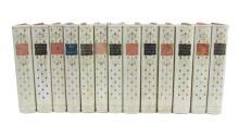 13 volumes decorative vellum bindings