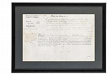 Military pension patent, French, 1784, signed by Louis XVI