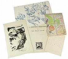 Poetic and artistic ephemera, comprising David Tindle RA (British, 1932)