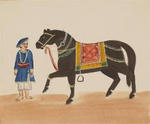 India - Company School studies showing costume and daily life