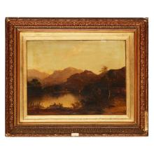 MANNER OF CHARLOTTE NASMYTH ANGLING IN THE MOUNTAINS 45cm x 61cm (17.75in x 24in)