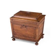 GEORGE IV ANGLO-INDIAN ROSEWOOD CELLARETTE 19TH CENTURY 64cm wide, 58cm high, 49cm deep