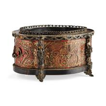 <sup>Y</sup> FRENCH BOULLE MARQUETRY JARDINIERE 19TH CENTURY 39cm wide, 20.5cm high