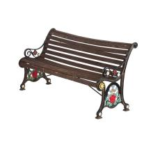 VICTORIAN PAINTED CAST IRON GARDEN BENCH 19TH CENTURY 166cm long,, 87cm high