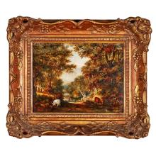 19TH CENTURY BRITISH SCHOOL PASTORAL SCENE 20cm x 26.5cm (8in x 10.25in)