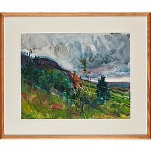 § PETER COKER (SCOTTISH 1926-2004) NATURE STUDY 38.5cm x 49cm (15.25in x 19.25in)