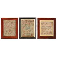 THREE SCOTTISH NEEDLEWORK SAMPLERS EARLY/MID 19TH CENTURY