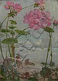 JAMES ELDER CHRISTIE (SCOTTISH 1847-1914) FROM A GARDEN BY THE SEA 39cm x 29cm (15.4in x 11.4in)