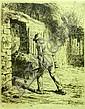 JEAN-FRANCOIS MILLET (FRENCH 1814-1875) LE PAYSAN RENTRANT DU FUMIER 16cm x 13cm (6.3in x 5.1in)