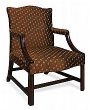 GEORGE III MAHOGANY RAEBURN CHAIR 92cm high