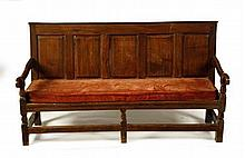 OAK SETTLE 179cm wide, 101cm high, 50cm deep