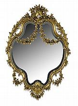 LOUIS XVI STYLE GILTWOOD MIRROR 19TH CENTURY 85cm wide, 136cm high