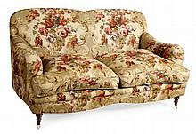 HOWARD STYLE TWO SEATER FLORAL SOFA 156cm wide, 83cm high, 70cm deep