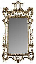 CHINESE CHIPPENDALE STYLE MIRROR 20TH CENTURY 79cm wide, 156cm high