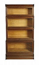OAK SECTIONAL BOOKCASE 87cm wide, 173cm high, 36cm deep