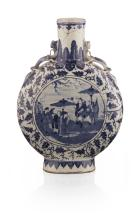 BLUE AND WHITE MOON FLASK 32cm high