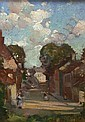DAVID ALISON (1882-1955) A STREET SCENE 21cm x 15cm, David Alison, Click for value