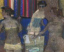 § SIR ROBIN PHILIPSON R.A., P.R.S.A., R.S.W., R.G.I., L.L.D. (SCOTTISH 1916-1992) COMPANIONS 111 22cm x 28cm (8.5in x 11in)
