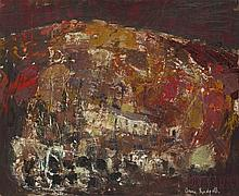 § ANNE REDPATH O.B.E., R.S.A., A.R.A., L.L.D., A.R.W.S., R.O.I., R.B.A. (SCOTTISH 1895-1965) HILLSIDE - THE CANARY ISLANDS 62cm x 75...