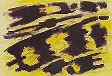 § WILLIAM GEAR R.A., F.R.S.A. (SCOTTISH 1915-1997) CROWLINK, 1974 84cm x 60cm (33in x 23.5in)