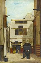 SIR DAVID YOUNG CAMERON R.A., R.S.A., R.W.S., R.S.W., R.E. (SCOTTISH 1865-1945) A STREET IN CAIRO 76cm x 51cm (30in x 20in)