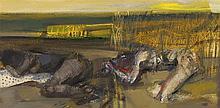 § SIR ROBIN PHILIPSON R.A., P.R.S.A., R.S.W., R.G.I., L.L.D. (SCOTTISH 1916-1992) THRENODY - SLEEP 1970 25.5cm x 51cm (10in x 20in)