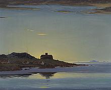§ ROBERT HOUSTON R.S.W. (SCOTTISH 1891-1942) IONA, LIGHT OF THE WEST 71cm x 91cm (28in x 36in)
