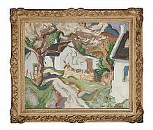 § JOHN MACLAUCHLAN MILNE R.S.A. (SCOTTISH 1886-1957) CORRIE 51cm x 61cm (20in x 24in)